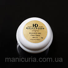 UV/LED гель Hollywood Builder Gel Clear Glass строительный, 25 мл.