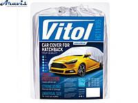 Тент на машину хэтчбек полиэстер 406x165 Vitol HC11106 XL для автомобиля