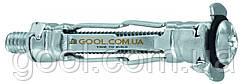 Молли анкер дюбель винт MOL-04038 для пустотелых материалов гипсокартона М4х38мм упаковка 100 штук