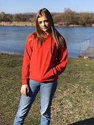 Однотонные женские длинные худи размеры 42,44,46