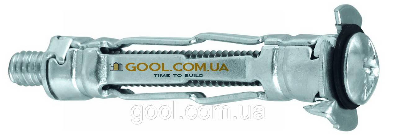 Молли анкер дюбель винт MOL-04052 для пустотелых материалов гипсокартона М4х52мм упаковка 100 штук