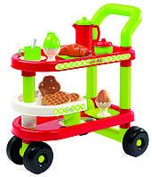 Набор посуды и продуктов Ecoiffier Тележка для завтрака 23 аксессуара (001612)
