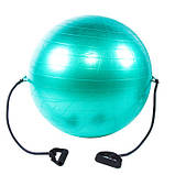 Мяч фитнес (Anti-burst) с эспандером, D65см, IronMaster, цвета в ассортименте, фото 3