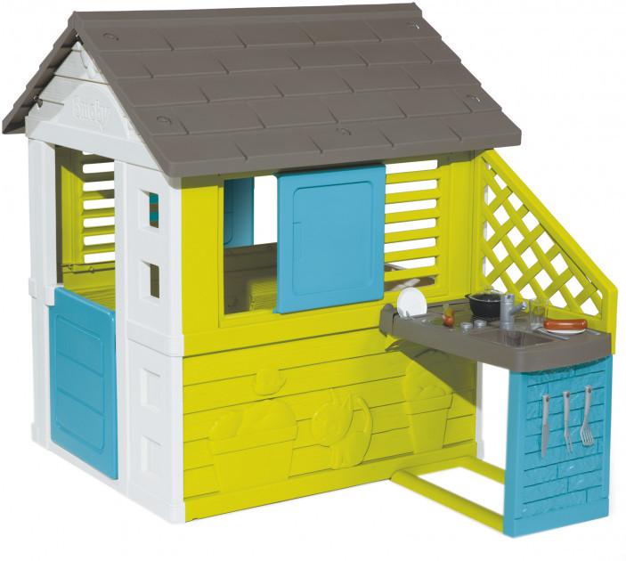 Домик Smoby Toys Радужный с летней кухней (810711)