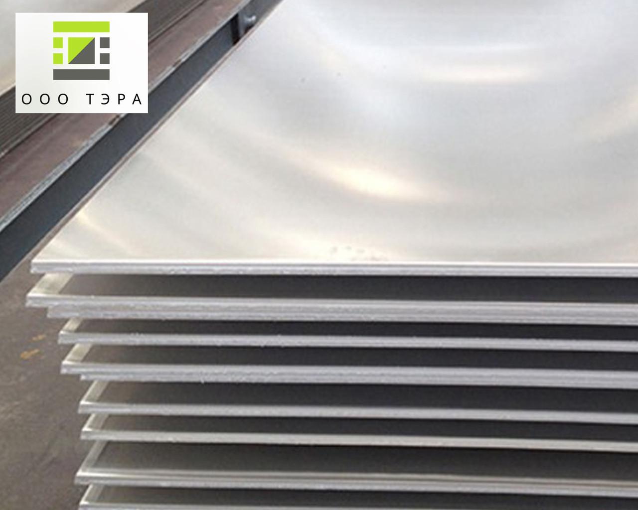 Алюминиевый лист 6 мм Д16АТ - дюраль, размеры 1500х4000 мм