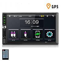 Автомагнитола 2DIN MP5 7012G с GPS, USB, AUX, BLUETOOTH, магнитола 2 ДИН в авто (магнітола 2 дін, магнітофон)