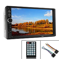 Автомагнитола 7012 B, 2 DIN, Bluetooth, сенсорный экран + пульт