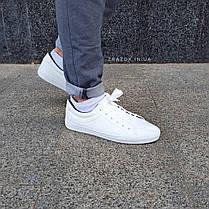 ПОСЛЕДНИЕ РАЗМЕРЫ 44, 45 Белые кожаные кеды кроссовки деми перфорация демисезон мужские летние экокожа, фото 3