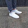 ПОСЛЕДНИЕ РАЗМЕРЫ 44, 45 Белые кожаные кеды кроссовки деми перфорация демисезон мужские летние экокожа, фото 5