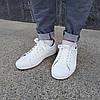 ПОСЛЕДНИЕ РАЗМЕРЫ 44, 45 Белые кожаные кеды кроссовки деми перфорация демисезон мужские летние экокожа, фото 6