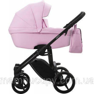 Детская универсальная коляска 2 в 1 Bebetto Luca PRO 06 (Эко кожа) Розовый