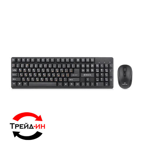 Комплект (клавиатура, мышь): Real-EL Standard 503 USB Black