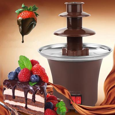 Мини шоколадный фонтан  для фондю Mini Chocolate Fondue Fountain
