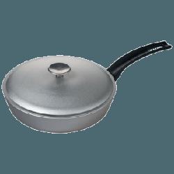 Сковорода Talko с рифленым дном и крышкой