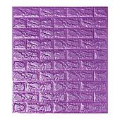 Самоклеюча декоративна 3D панель під фіолетовий цегла 700х770х7мм Os-BG16