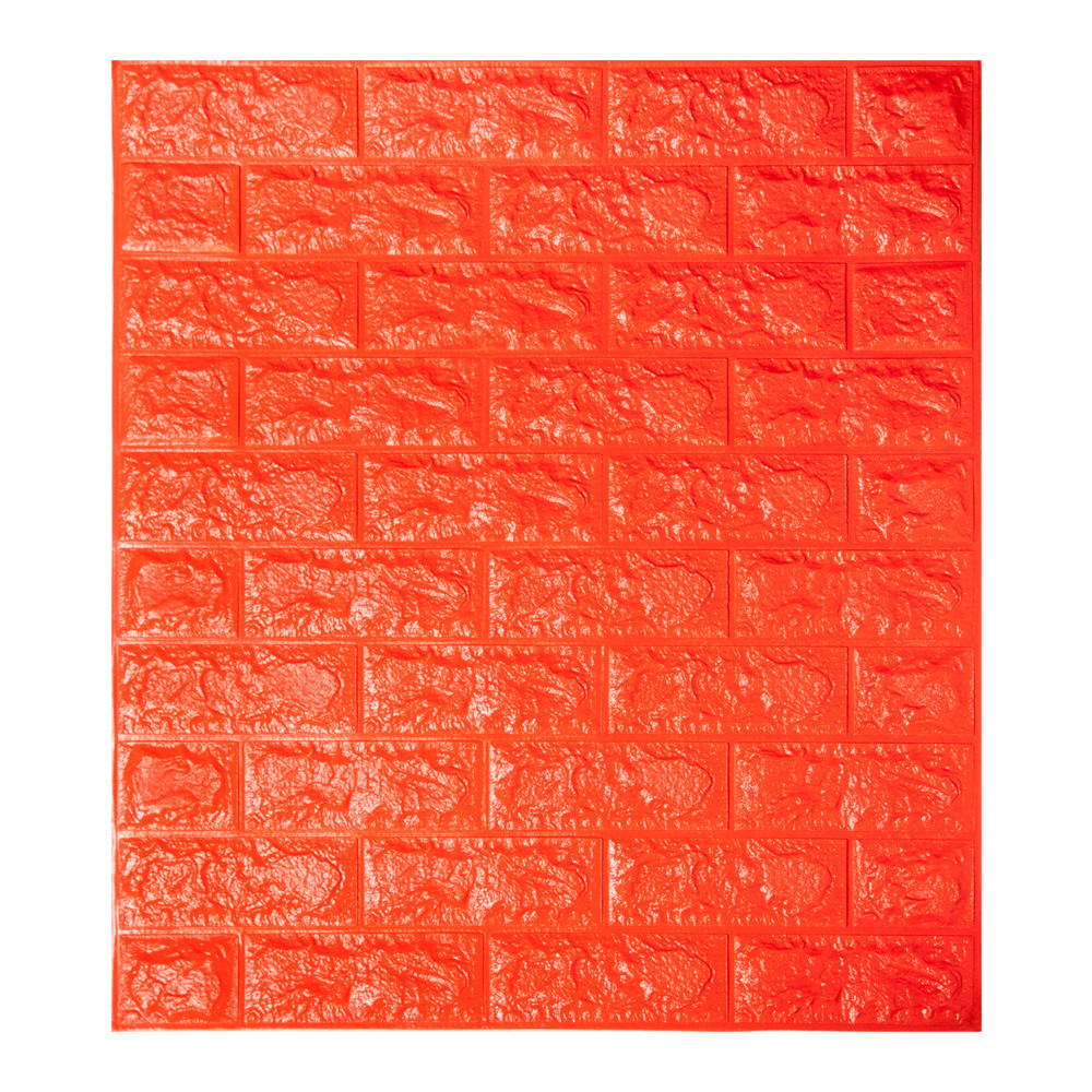 Самоклеющаяся декоративная 3D панель под оранжевый кирпич 700x770x7мм Os-BG07