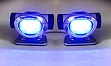 Габариты диодные, габаритные синие огни пара, фото 4