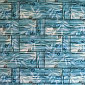 Самоклеюча декоративна 3D панель бамбукова кладка бірюза 700х700х8мм