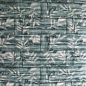 Самоклеюча декоративна 3D панель бамбукова кладка М'ята 700х700х8мм