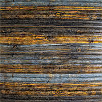 Самоклеюча декоративна 3D панель бамбук сіро-коричневий 700х700х8мм