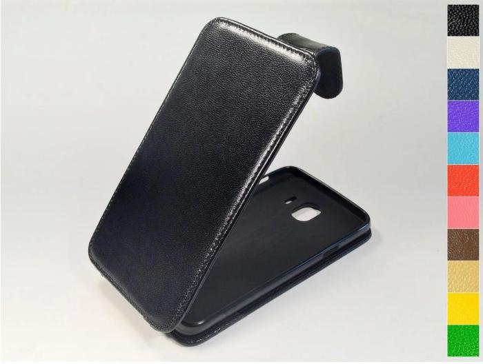 Откидной чехол из натуральной кожи для Huawei Honor 7C (LND-AL30, LND-AL40) / Honor 7C Pro (LND-L29) / Enjoy 8