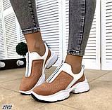 Жіночі кросівки сліпони з перфорацією з натуральної замші теракотові, білі, чорні, фото 3