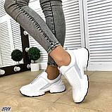 Жіночі кросівки сліпони з перфорацією з натуральної замші теракотові, білі, чорні, фото 4
