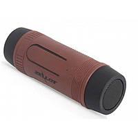 Портативная Bluetooth колонка Zealot S1 с функцией power bank и фонариком Коричневая