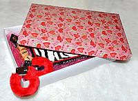 """Подарунковий набір з наручниками """"Камасутра"""" у великій коробці, фото 1"""