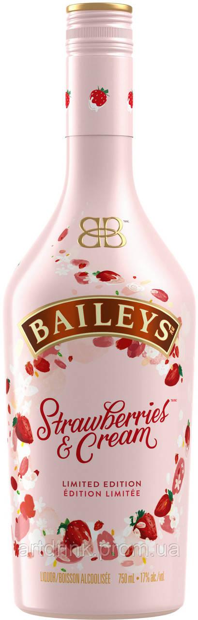 Ликер Baileys Strawberries+Cream 0.7 л 17% (5011013933457)