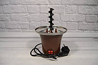 Домашній шоколадний фонтан для фондю Mini Chocolate Fountain Fondue, фото 6