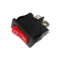 Переключатель узкий малый на два контакта красный GAV 167R