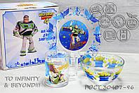 Набір дитячої скляній посуд ОСБ Історія Іграшок 18с2055 3 предмета, фото 1