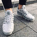 Мужские кроссовки Nike Air VaporMax White Silver / Найк Аир ВапорМакс Белые Серебристые, фото 3