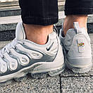Мужские кроссовки Nike Air VaporMax White Silver / Найк Аир ВапорМакс Белые Серебристые, фото 4