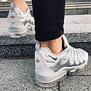 Мужские кроссовки Nike Air VaporMax White Silver / Найк Аир ВапорМакс Белые Серебристые, фото 6