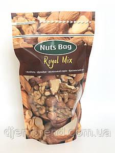 Орехи Royal Mix миндаль, фундук, бразильский орех, грецкий орех, ТМ Nuts Bag 200 гр.