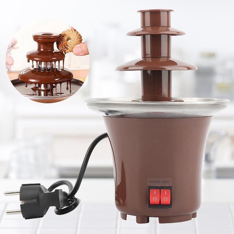 Домашній шоколадний фонтан для фондю Mini Chocolate Fountain Fondue