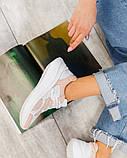 Кроссовки женские женские белые с вставками пудры, фото 2