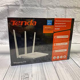 Роутер Tenda F3 (Lan 10/ 100 Mb/s/WI-FI 2.4 Ghz 300 Mb/s/3xLan/1x Wan)