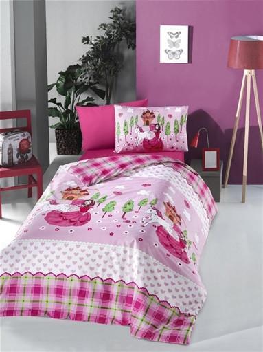 Комплект постельного белья полуторный Ranforce LORA 160x220 (50477_1,5)