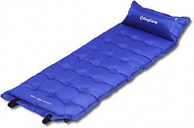 Самонадувающийся килимок KingCamp Base Camp Comfort(KM3560) (blue)