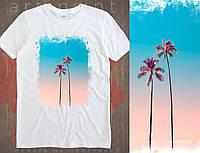 Чоловіча футболка з принтом Sky Palms, фото 1
