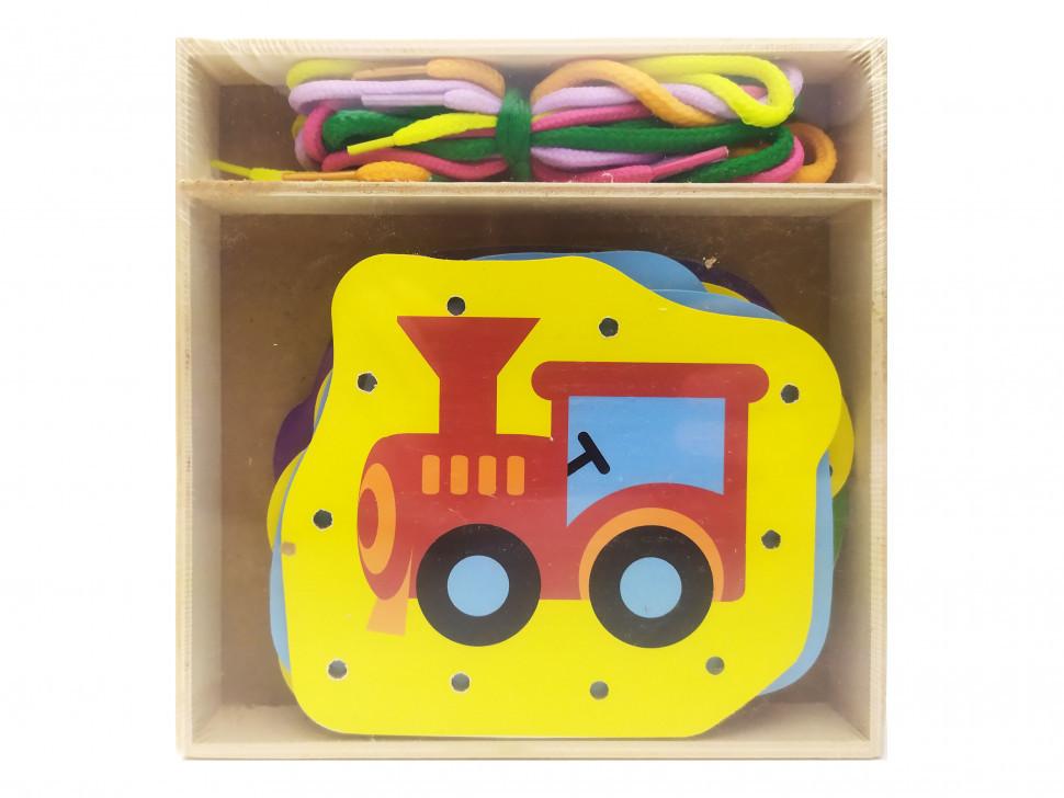 Деревянная игрушка Шнуровка MD 2352 (Транспорт)