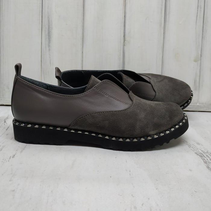 Кожаные туфли в цвете капучино