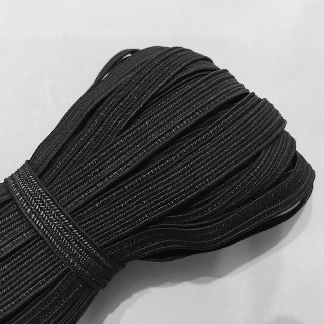 Резинка плетеная продежная п/э 8мм цв черный (уп 100м)
