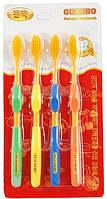 Набор зубных щеток с бамбуковым угольным напылением - 4шт Корея!
