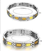 Набор турмалиновых магнитных браслетов с кулонами 2в1, фото 1