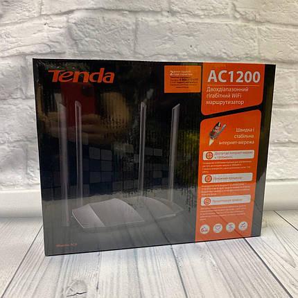 Роутер Tenda AC8  (Lan 100/1000Mb/s/Wi-Fi 2.4 Ghz 300 mb/s/Wi-Fi 5.0 Ghz 867 mb/s/3xLan/1x Wan), фото 2