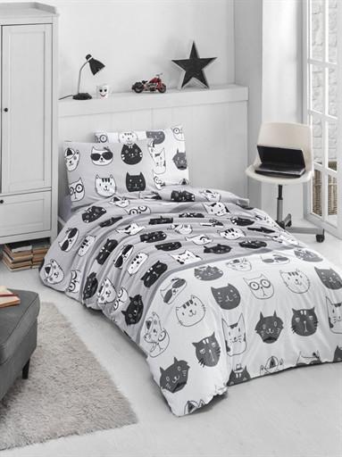 Комплект постельного белья полуторный Ranforce Lovely Cats 160x220 (57548_1.5LH)